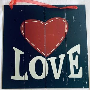 Wood Hanging LOVE sign